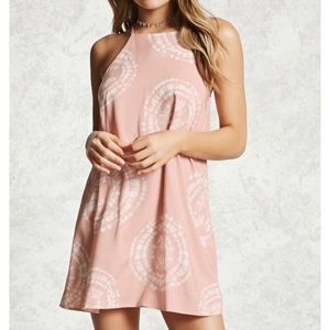 Forever 21 Pink Tie Dye Summer Dress, Small